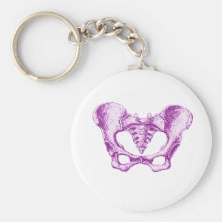Female Pelvis Purple Keychain
