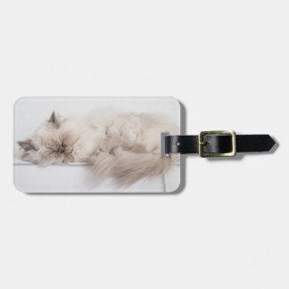Female Persian Cat Bag Tag