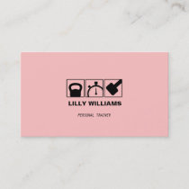 Female Personal Trainer Pink Fitness Business Card
