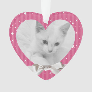 Female Pet's First Christmas Heart Photo Keepsake