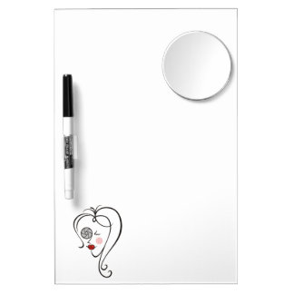 Female Photographer Dry Erase Board With Mirror