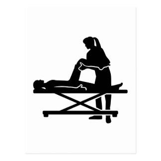 Female physiotherapist postcard