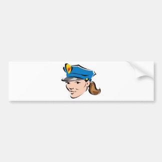 female-police-officer bumper sticker
