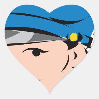 female-police-officer heart sticker