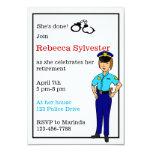 Female Police Officer Retirement Party Invitation Custom Invites