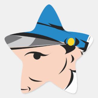 female-police-officer star sticker