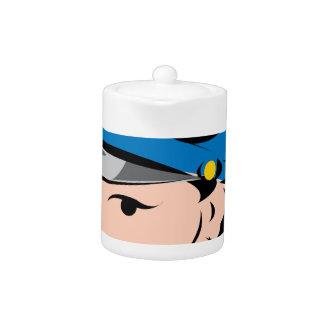 female-police-officer teapot