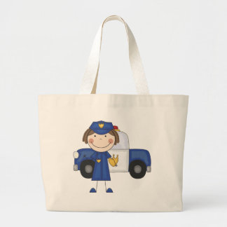 Female Police Officer Tshirts and Gifts Large Tote Bag