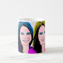 Female Pop Art By Request Classic White Coffee Mug