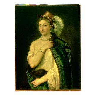 Female Portrait, c.1536 Postcard