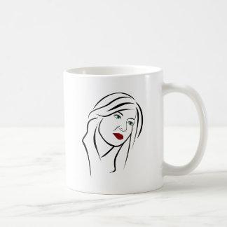 Female Portrait Coffee Mug