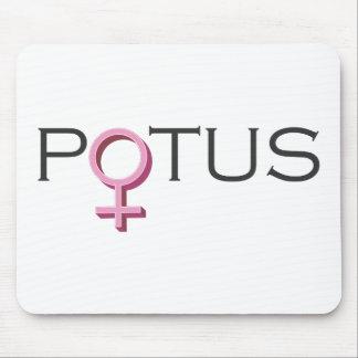 Female POTUS Design Mouse Pad