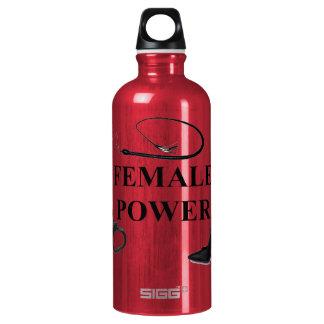 FEMALE POWER ALUMINUM WATER BOTTLE