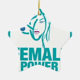 Female Power Ceramic Ornament