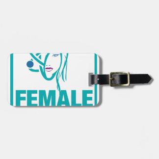 Female Power Luggage Tag