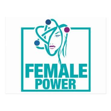 scorpionagency Female Power Postcard