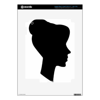 Female Profile Silhouette iPad 3 Decals