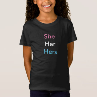 Female Pronoun Transgender/Intersex 2 T-Shirt