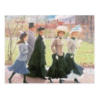 Female pupils for Confirmation Postcard
