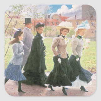 Female pupils for Confirmation Square Sticker