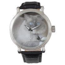 Female Ragdoll Cat Wristwatch