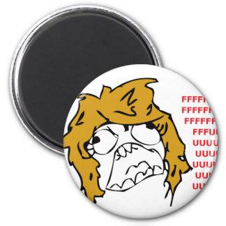 Female Rage 2 Inch Round Magnet