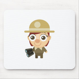Female Ranger - My Conservation Park Mouse Pad