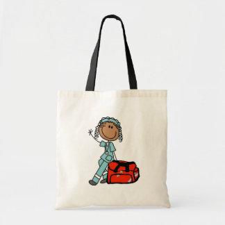 Female Respiratory Therapist or EMT Bag