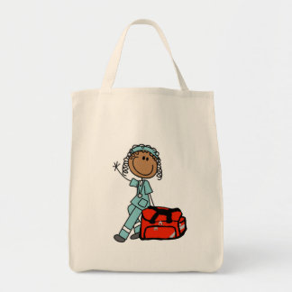 Female Respiratory Therapist or EMT Tote Bags