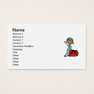 Female Respiratory Therapist or EMT Business Card