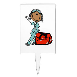 Female Respiratory Therapist or EMT Cake Topper