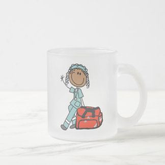 Female Respiratory Therapist or EMT Frosted Glass Coffee Mug