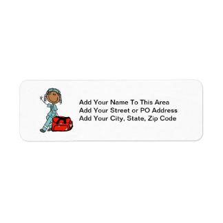 Female Respiratory Therapist or EMT Label