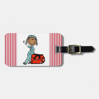 Female Respiratory Therapist or EMT Bag Tag