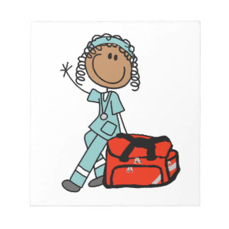 Female Respiratory Therapist or EMT Memo Notepad