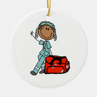 Female Respiratory Therapist or EMT Christmas Ornaments