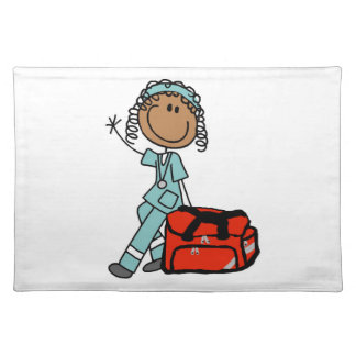 Female Respiratory Therapist or EMT Place Mats