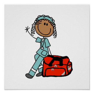 Female Respiratory Therapist or EMT Posters