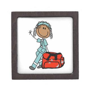 Female Respiratory Therapist or EMT Premium Jewelry Box