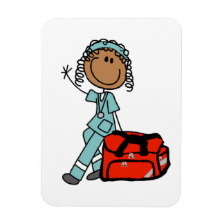 Female Respiratory Therapist or EMT Rectangular Photo Magnet