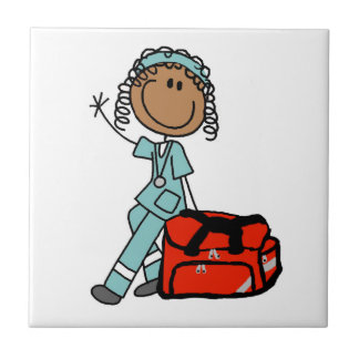 Female Respiratory Therapist or EMT Tile