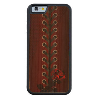 Female Retro Lace Corset Carved Cherry iPhone 6 Bumper Case