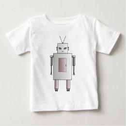 Female Robot Cute Hottie Retro Vintage Design Baby T-Shirt