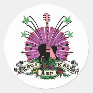 Female Rock n Roll Classic Round Sticker