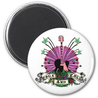 Female Rock n Roll Fridge Magnet