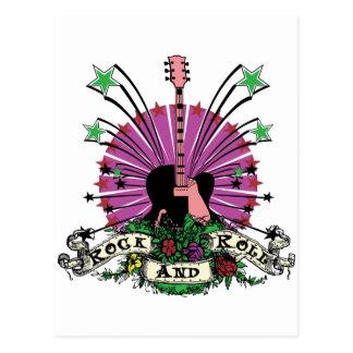 Female Rock n Roll Postcard