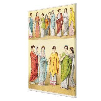 Female Roman Dress Gallery Wrap Canvas