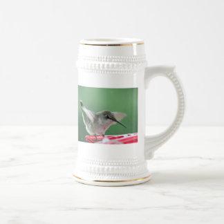 Female Ruby-Throated Hummingbird Beer Stein