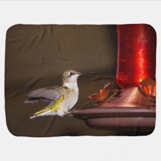 Female Ruby-throated Hummingbird Swaddle Blanket