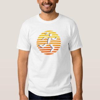 female runner circle yellows T-Shirt